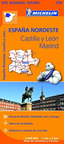 MAPA REGIONAL CASTILLA Y LEÓN, MADRID