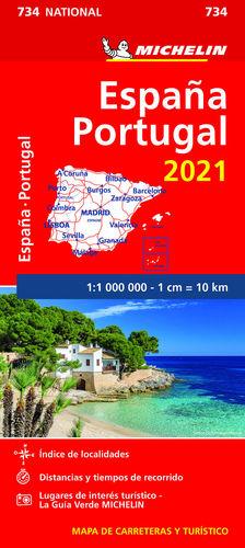 MAPA ESPAÑA-PORTUGAL 2021