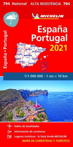 MAPA ESPAÑA-PORTUGAL 2021 ALTA RESISTENCIA