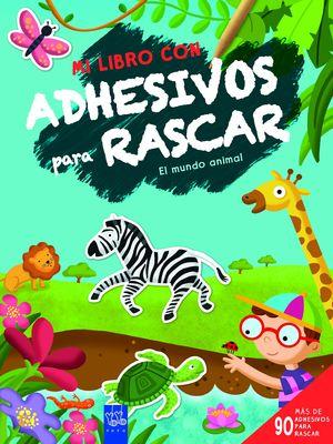 LIBRO CON ADHESIVOS PARA RASCAR. EL MUNDO ANIMAL