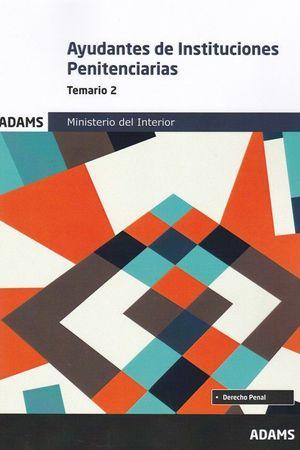 TEMARIO 2 AYUDANTES DE INSTITUCIONES PENITENCIARIAS