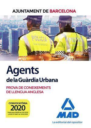 AGENTS DE LA GUÀRDIA URBANA DE L'AJUNTAMENT DE BARCELONA. PROVA DE CONEIXEMENTS