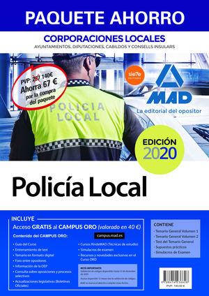 PAQUETE AHORRO POLICÍA LOCAL DE CORPORACIONES LOCALES. AHORRO DE 67 € (INCLUYE T