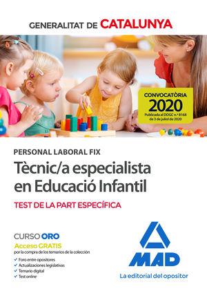 PERSONAL LABORAL FIX DE TÈCNIC;A ESPECIALISTA EN EDUCACIÓ INFANTIL DE LA GENERAL
