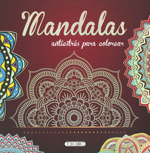 MANDALAS ANTIESTRES PARA COLOREAR 1 (ROJO)