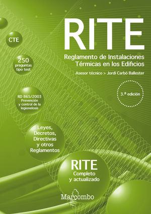 R.I.T.E. REGLAMENTO DE INSTALACIONES TÉRMICAS EN LOS EDIFICIOS 3ED