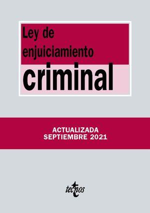 LEY DE ENJUICIAMIENTO CRIMINAL  (EDICION ACTUALIZADA SEPT. 2021)