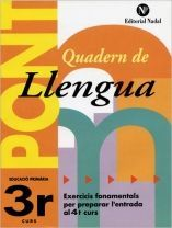PONT QUADERN DE LLENGUA 3R PRIMÀRIA