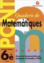 PONT QUADERN DE MATEMÀTIQUES 5E PRIMÀRIA