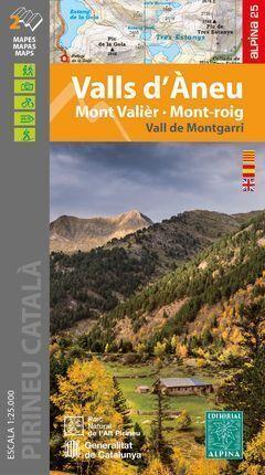 VALLS D'ANEU 1:25.000 MONT VALIER, MONT ROIG -ALPINA