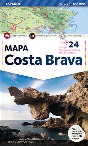 COSTA BRAVA, MAPA
