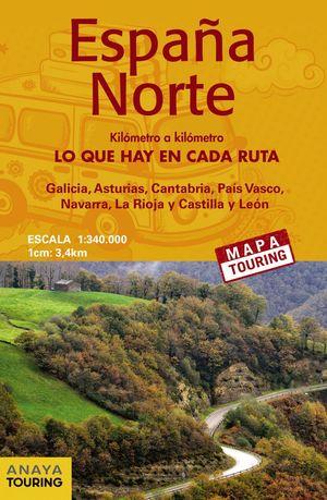 MAPA 1:340.000 ESPAÑA NORTE